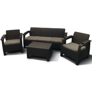 Комплект мебели для сада и дачи Ялта M6172 5Pcs (dark brown)
