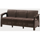 Диван для сада и дачи Ялта M6172 3Pcs (dark brown)